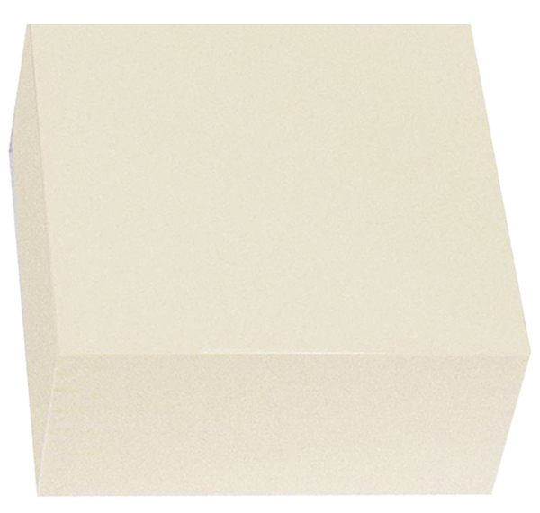 Taco de papel liso blanco 90 x 90 mm