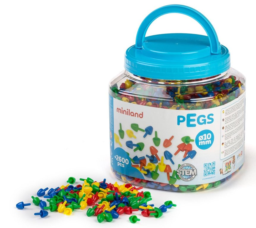 Pegs 10 mm 2600 pcs / bote asa